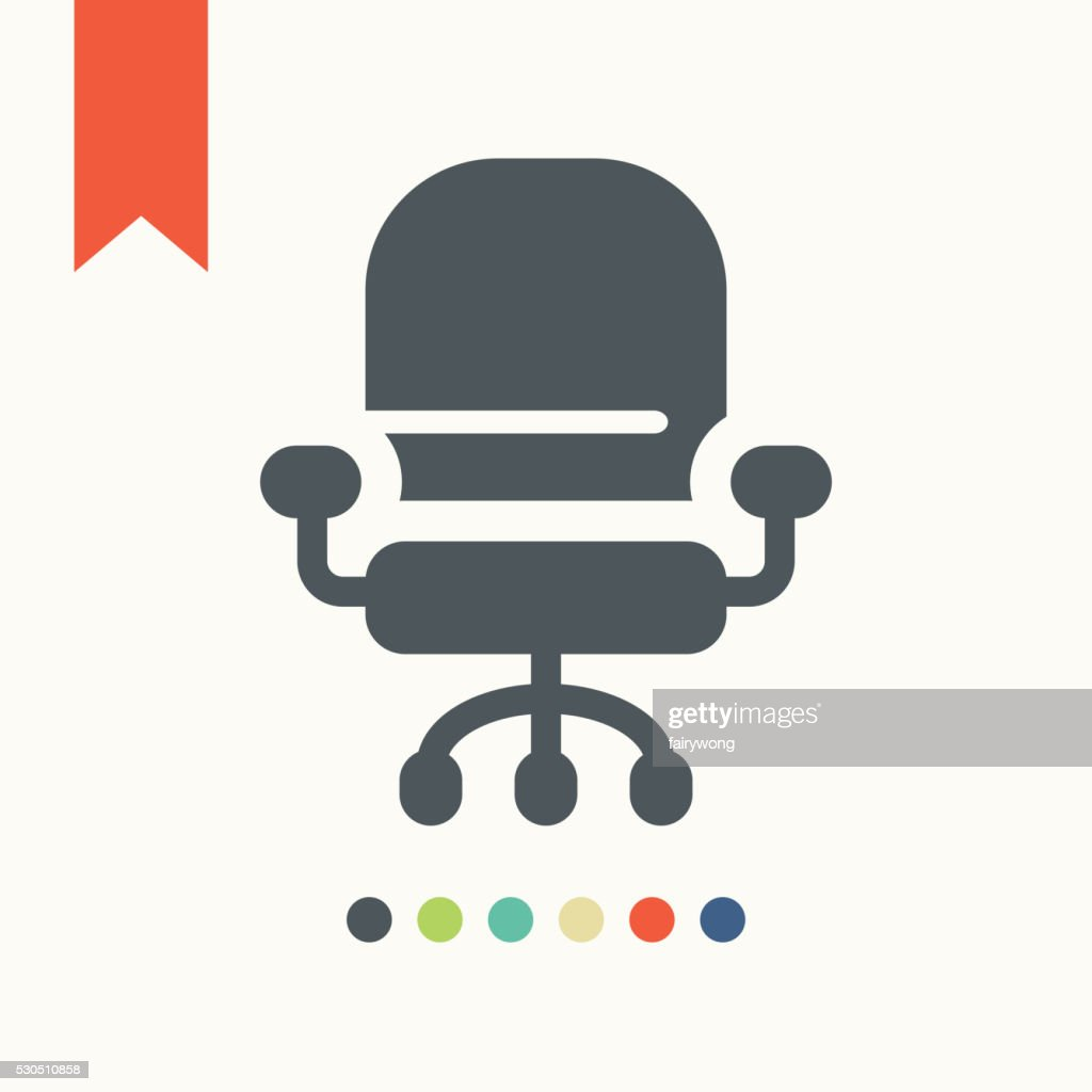 Office Chair icon : stock illustration