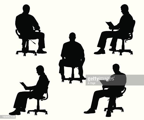 Office Chair Vector Silhouette