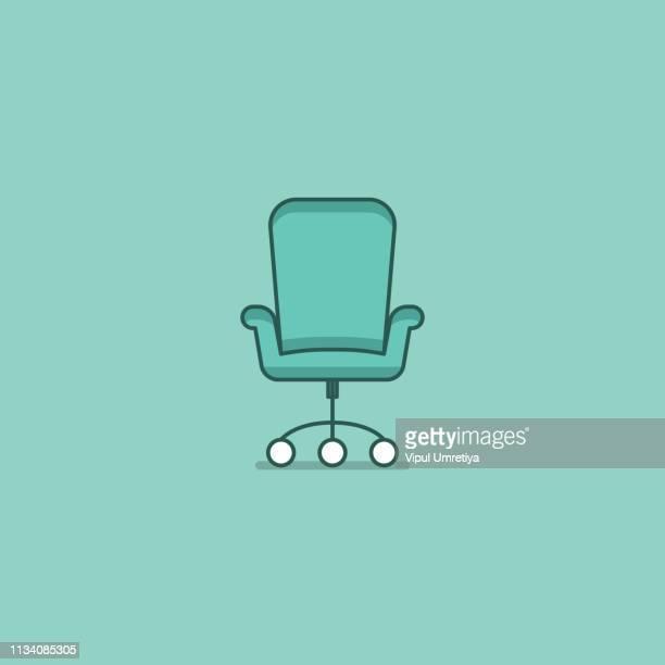 illustrations, cliparts, dessins animés et icônes de vecteur de chaise de bureau - chaise de bureau