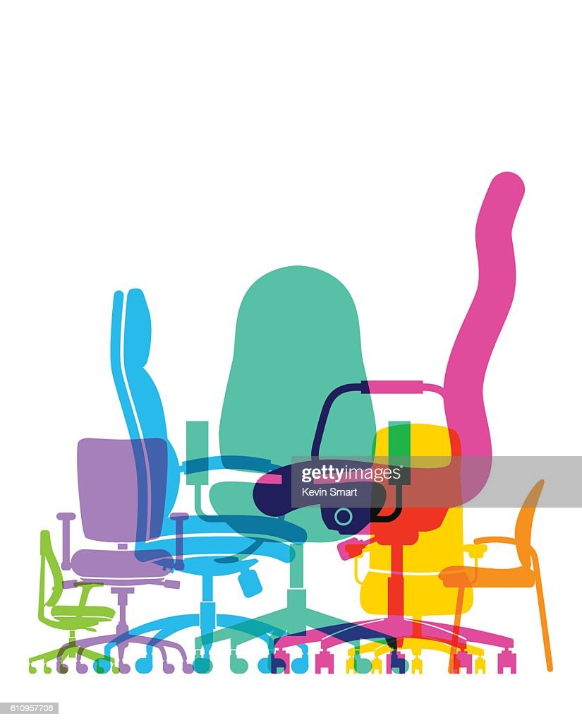 office chairs : stock illustration