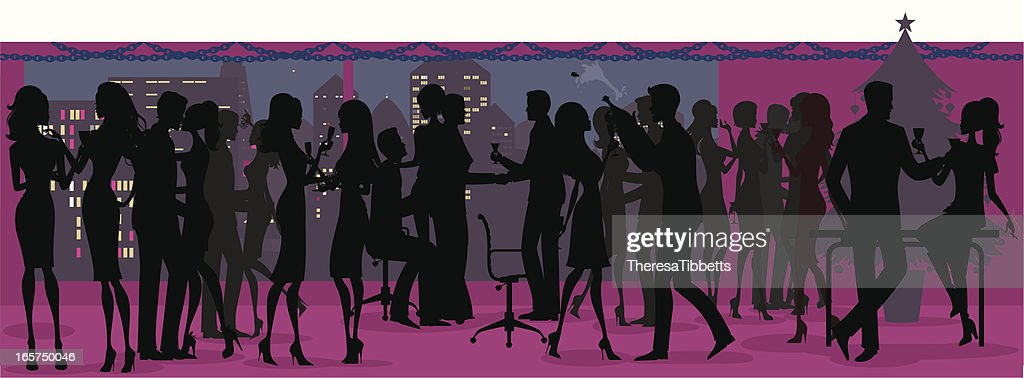 Office Christmas Party Silhouette
