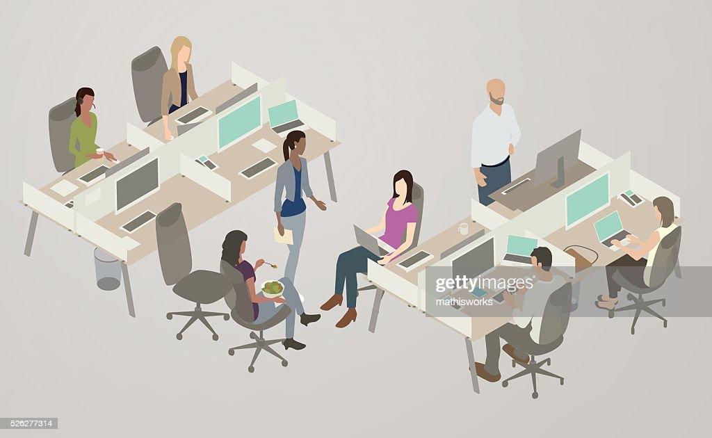 Office Collaboration Illustration : stock vector