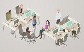 Office Collaboration Illustration