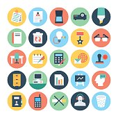 Office Colored Vector Icons 4