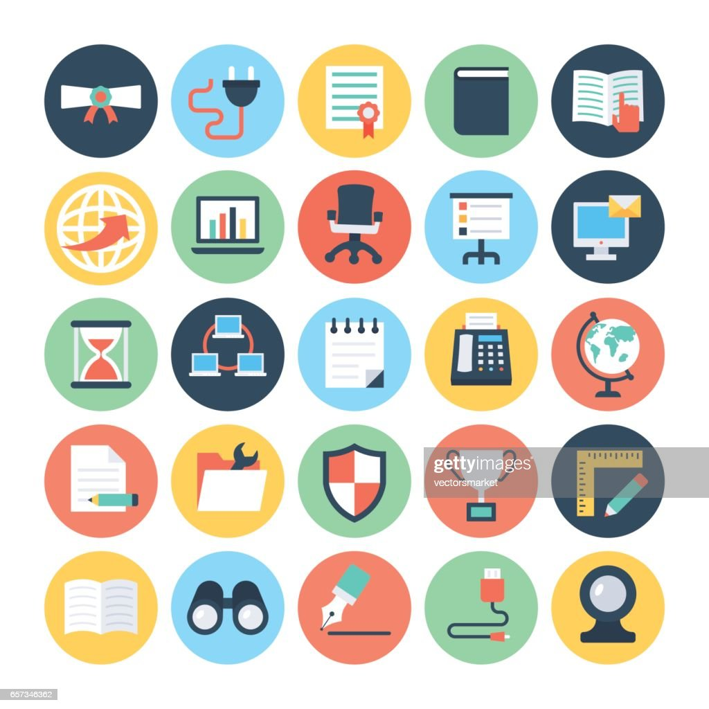 Office Colored Vector Icons 5