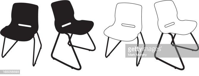 Office Chair Vector Art