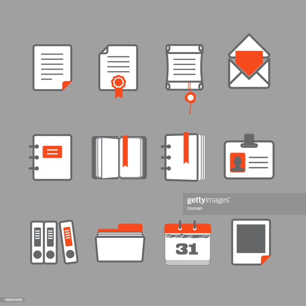 Office documents icons set
