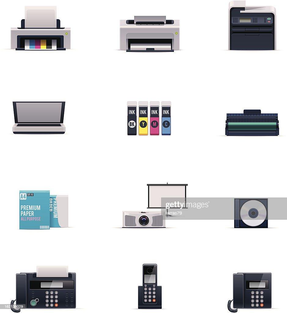 Office electronics icon set