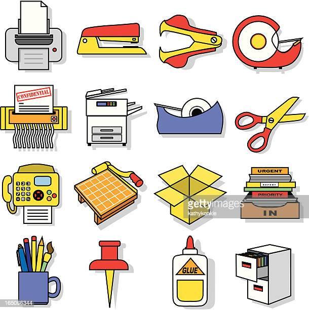office equipment - desk organizer stock illustrations, clip art, cartoons, & icons