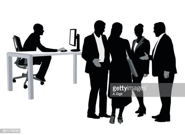 Bureau invités Handshake
