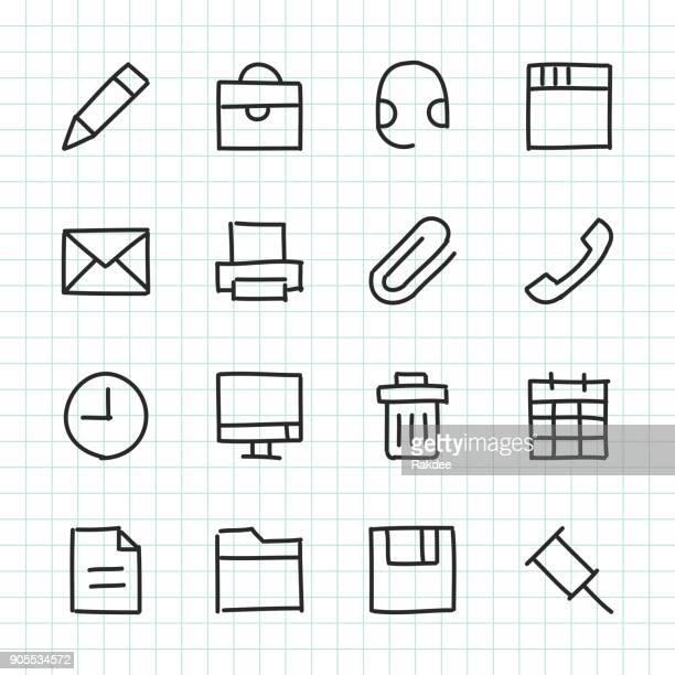 Icono de oficina - serie dibujados a mano
