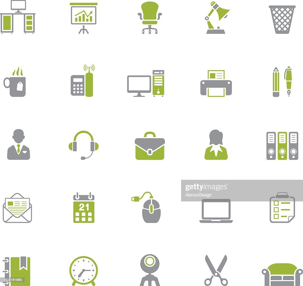 Office icon set : stock illustration