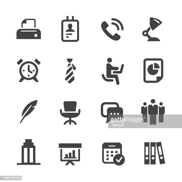 office icons - acme series - human settlement stock illustrations