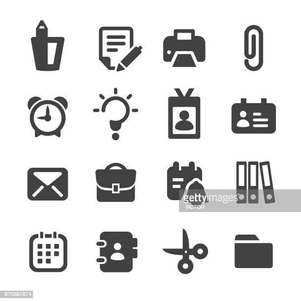 office icons - acme series - filing cabinet stock illustrations, clip art, cartoons, & icons