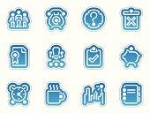 office icons - azul frontera