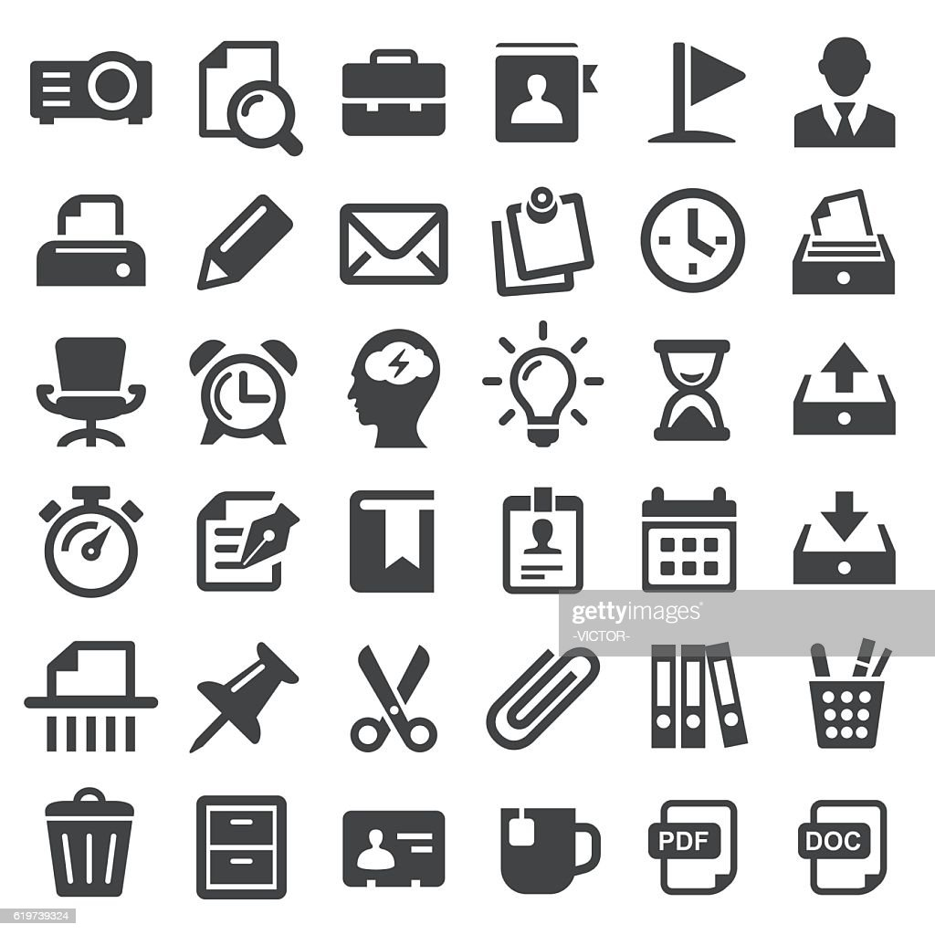 Office Icons - Big Series : stock illustration