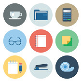Office Icons — Circle Series