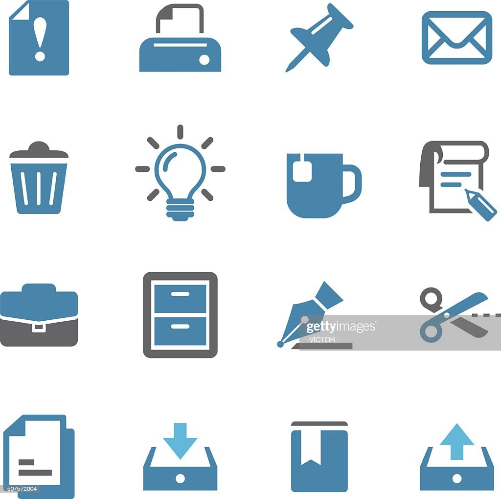 Office Icons - Conc Series : Stock Illustration