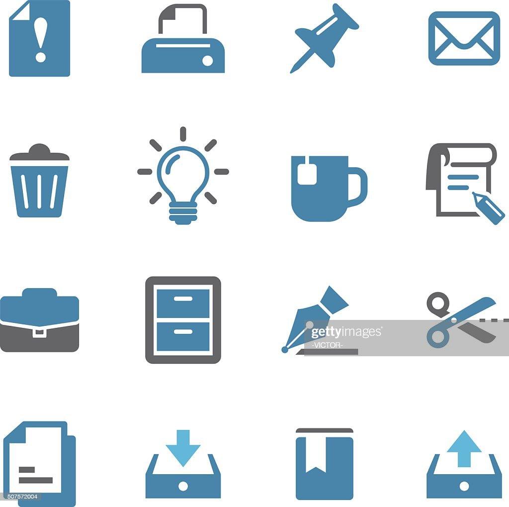 Serie oficina iconos-Conc. de : Ilustración de stock