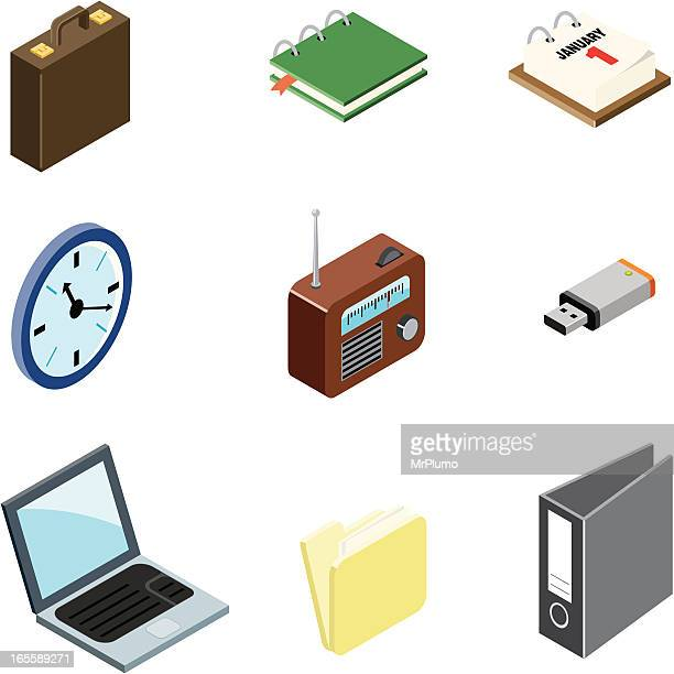 office  icons | iso collection - usb cable stock illustrations, clip art, cartoons, & icons
