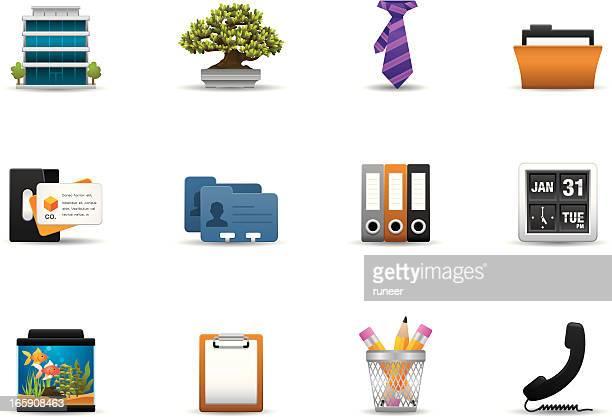 office icons | premium matte series - rolodex stock illustrations, clip art, cartoons, & icons