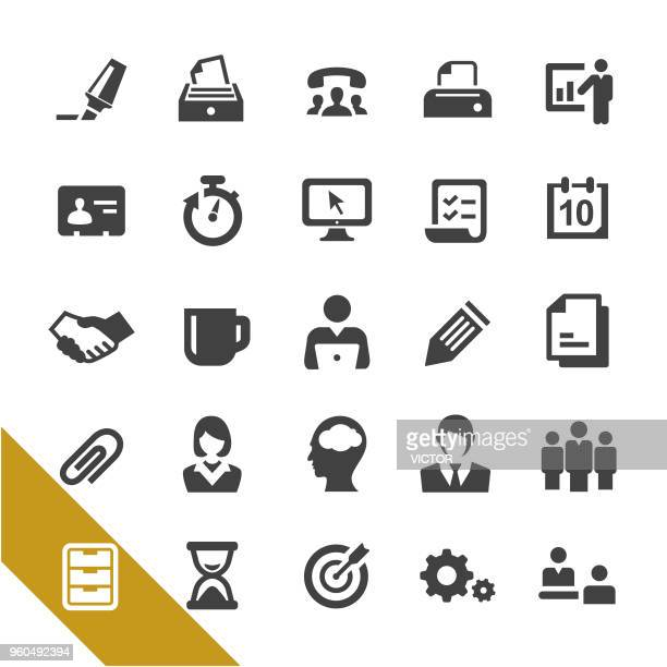 office icons - select series - outbox filing tray stock illustrations