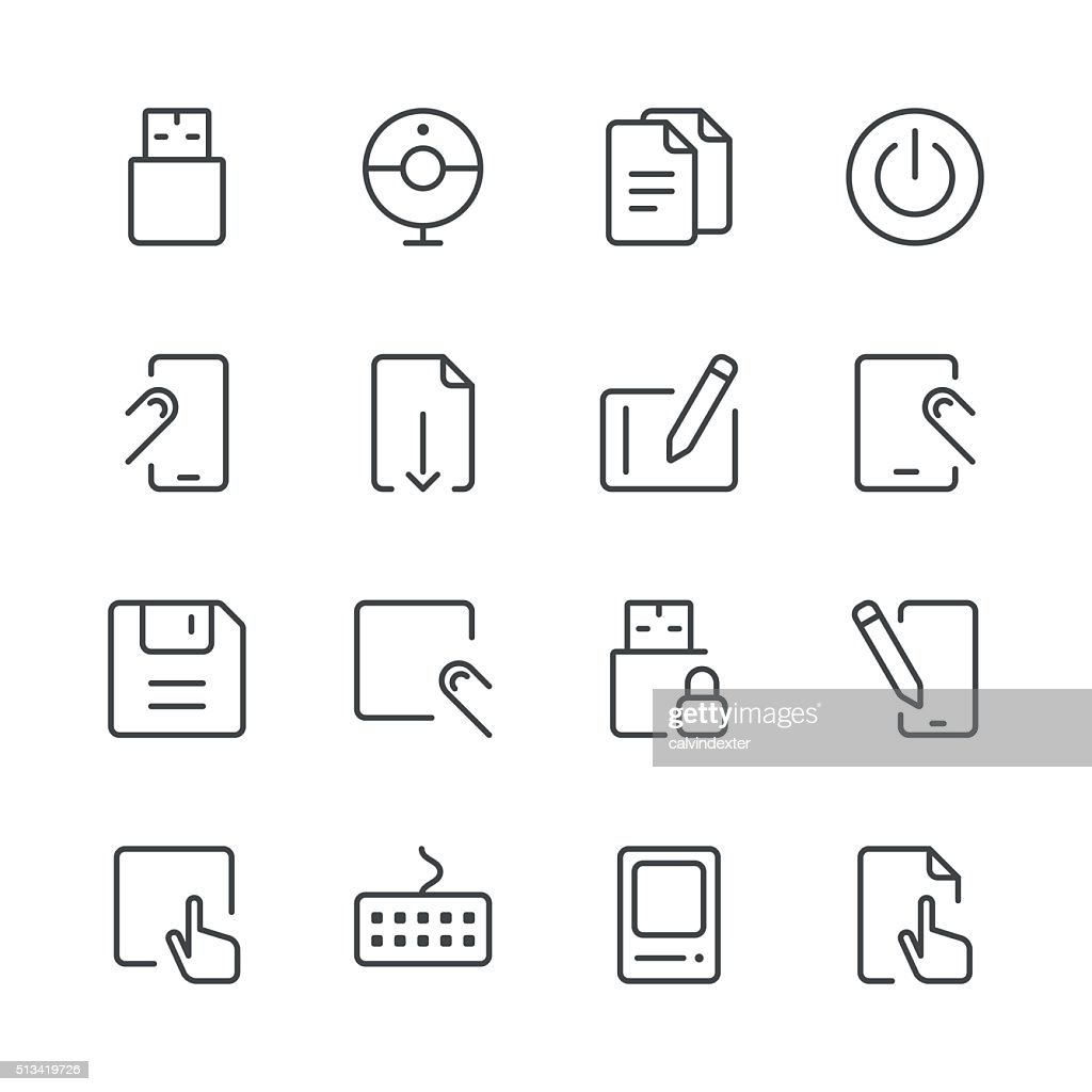 Office Icons set 1 | Black Line series