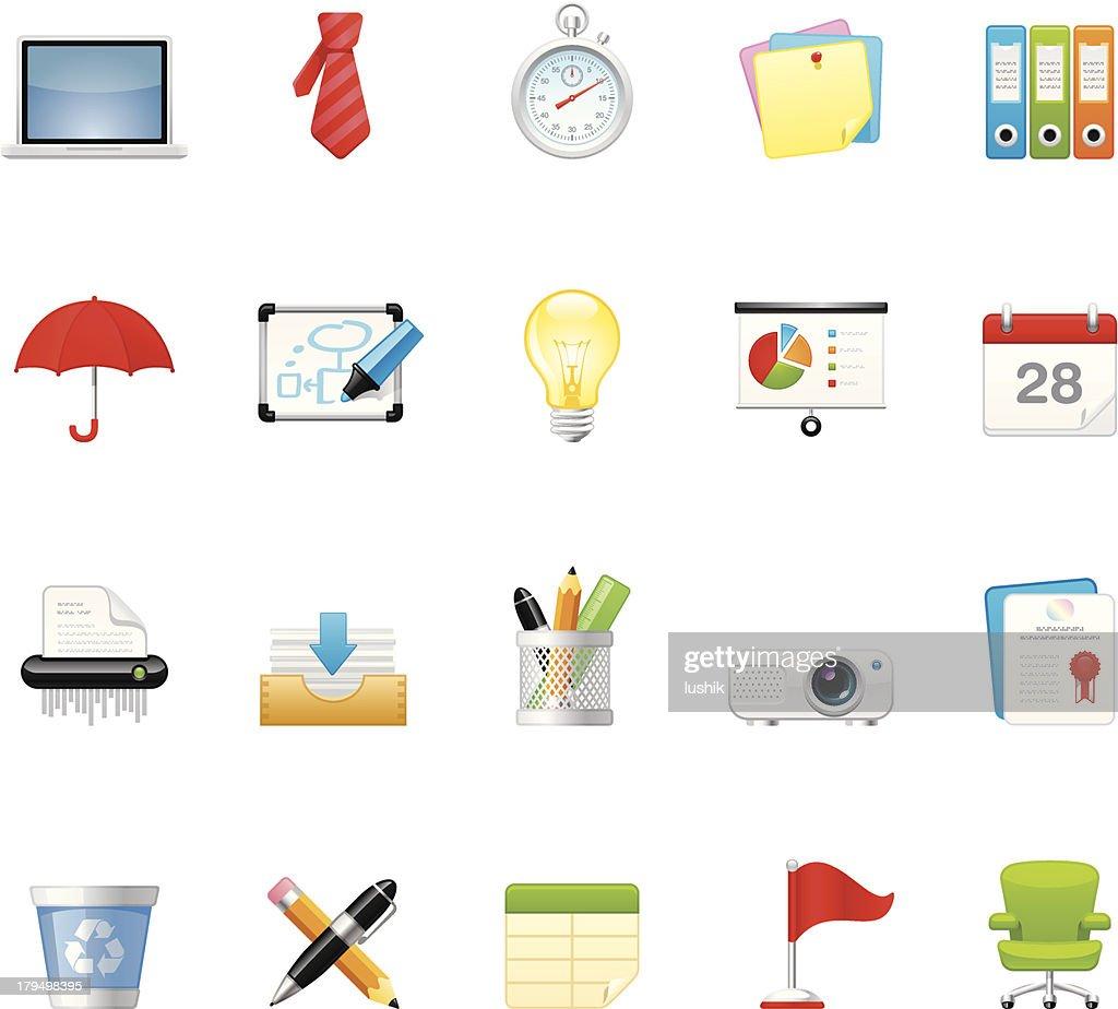 Office icons   set 5 : stock illustration