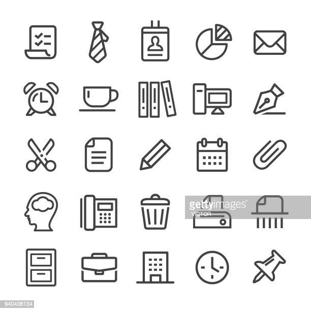 office icons - smart line series - filing cabinet stock illustrations, clip art, cartoons, & icons