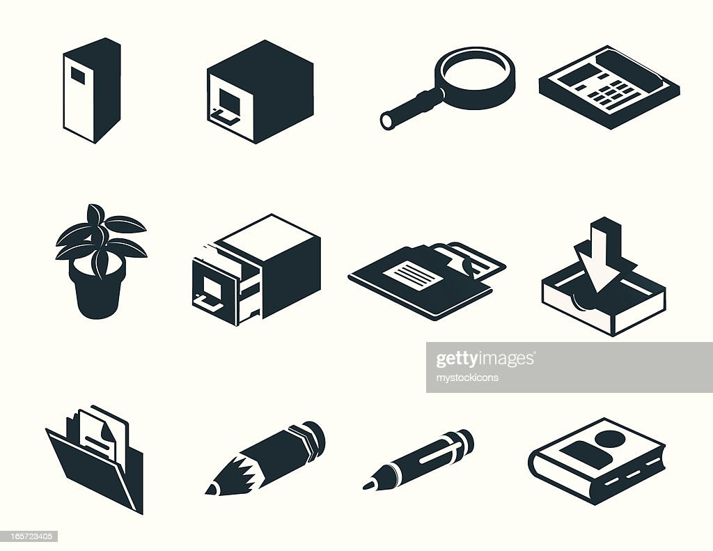 Office Icons : stock illustration