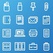 Office Icons (White/Blue)