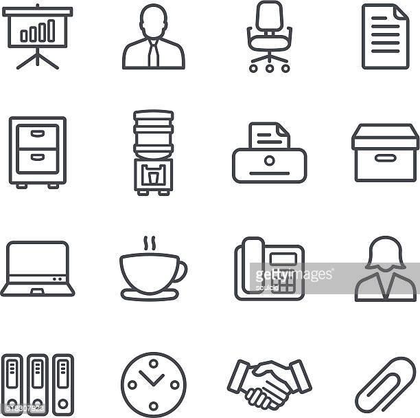 office icons - fileira stock illustrations