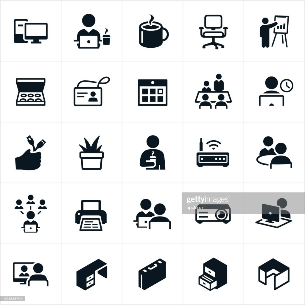 Office Icons : stock illustration