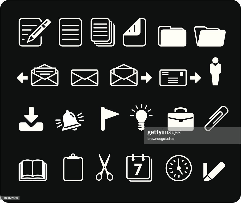 Office Icons - White