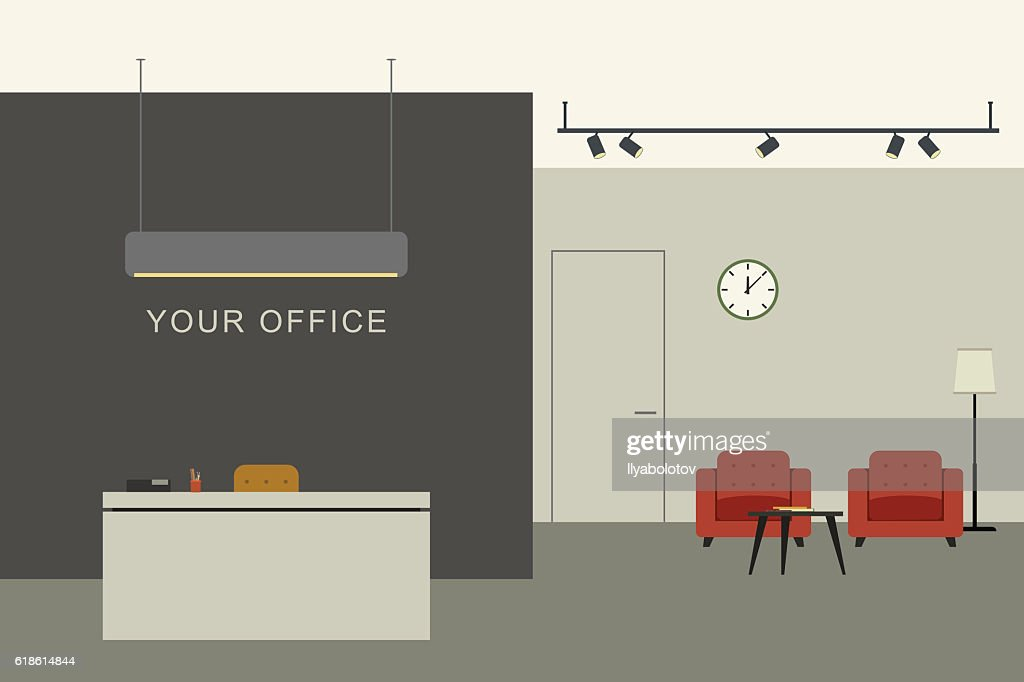 Office interior with reception