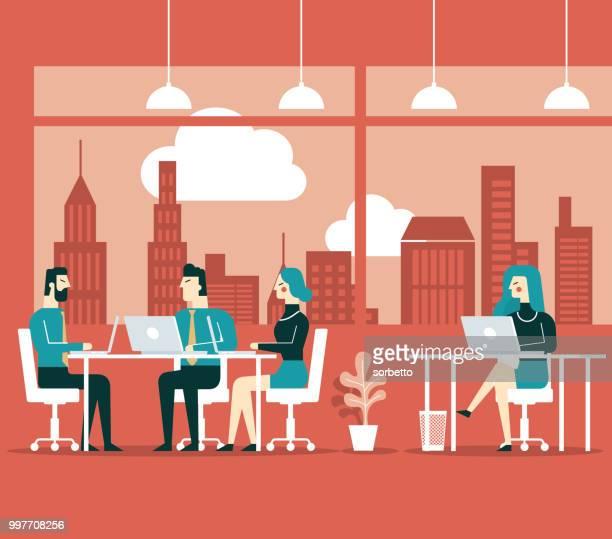 stockillustraties, clipart, cartoons en iconen met kantoor leven - kantoor