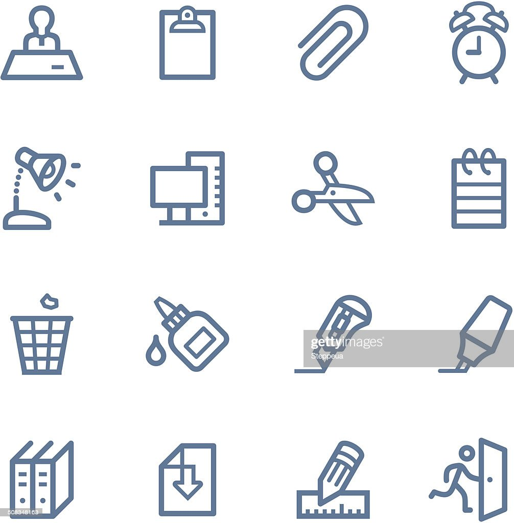 Office line icons