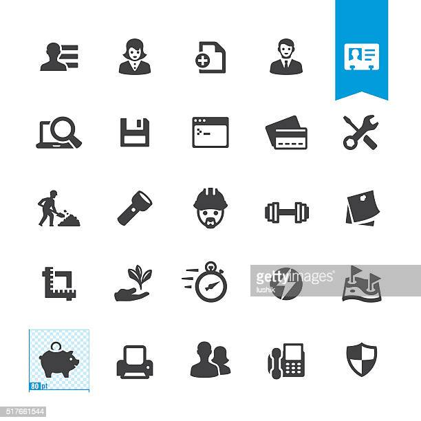 Office miscellaneous tools vector sign and icon