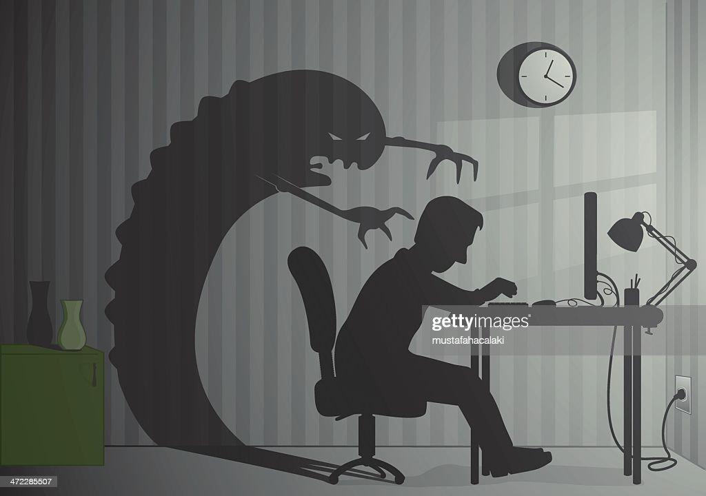 Office monster : stock illustration