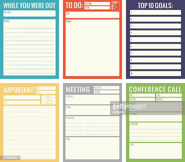 office note card templates - to do list stock illustrations, clip art, cartoons, & icons