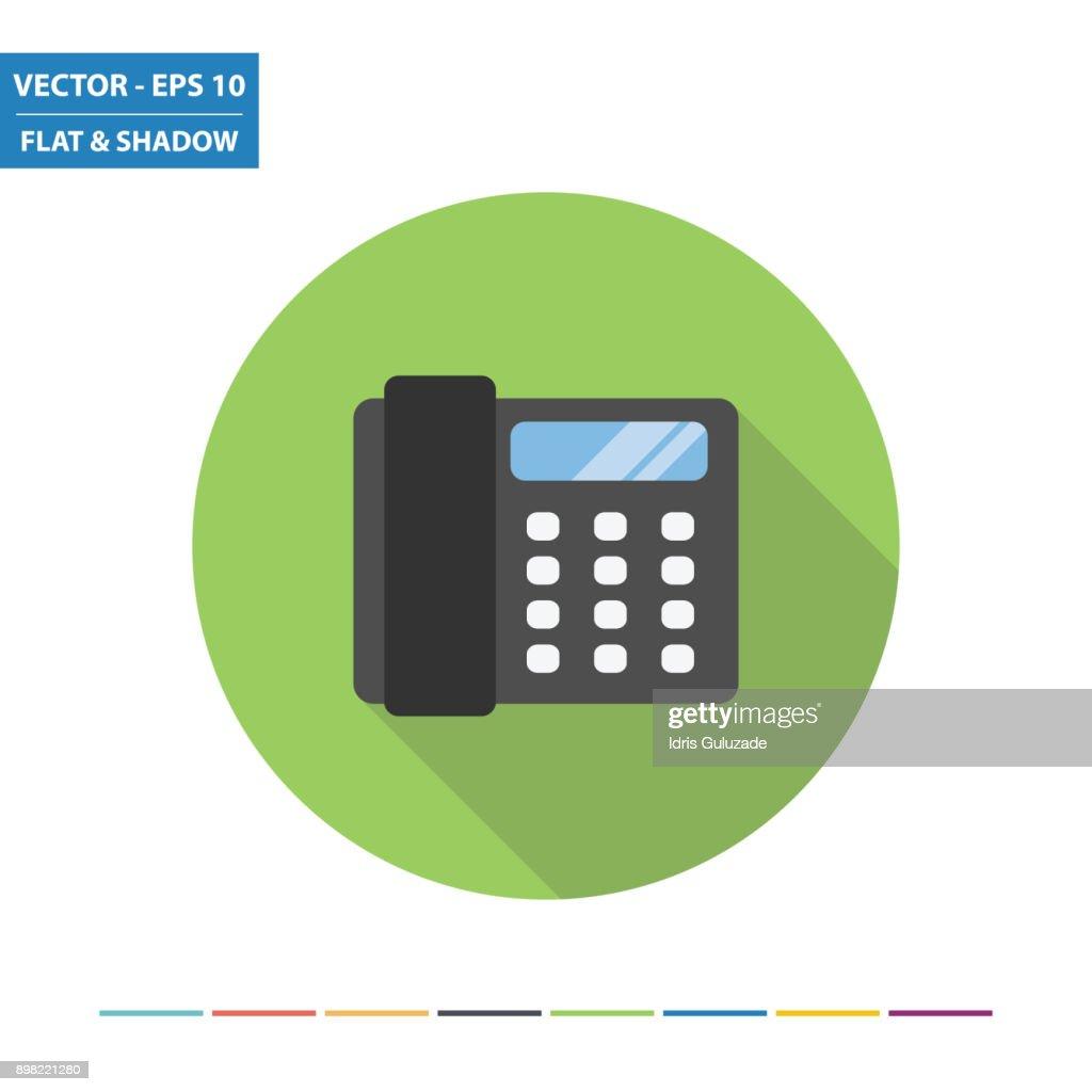 Office phone flat icon