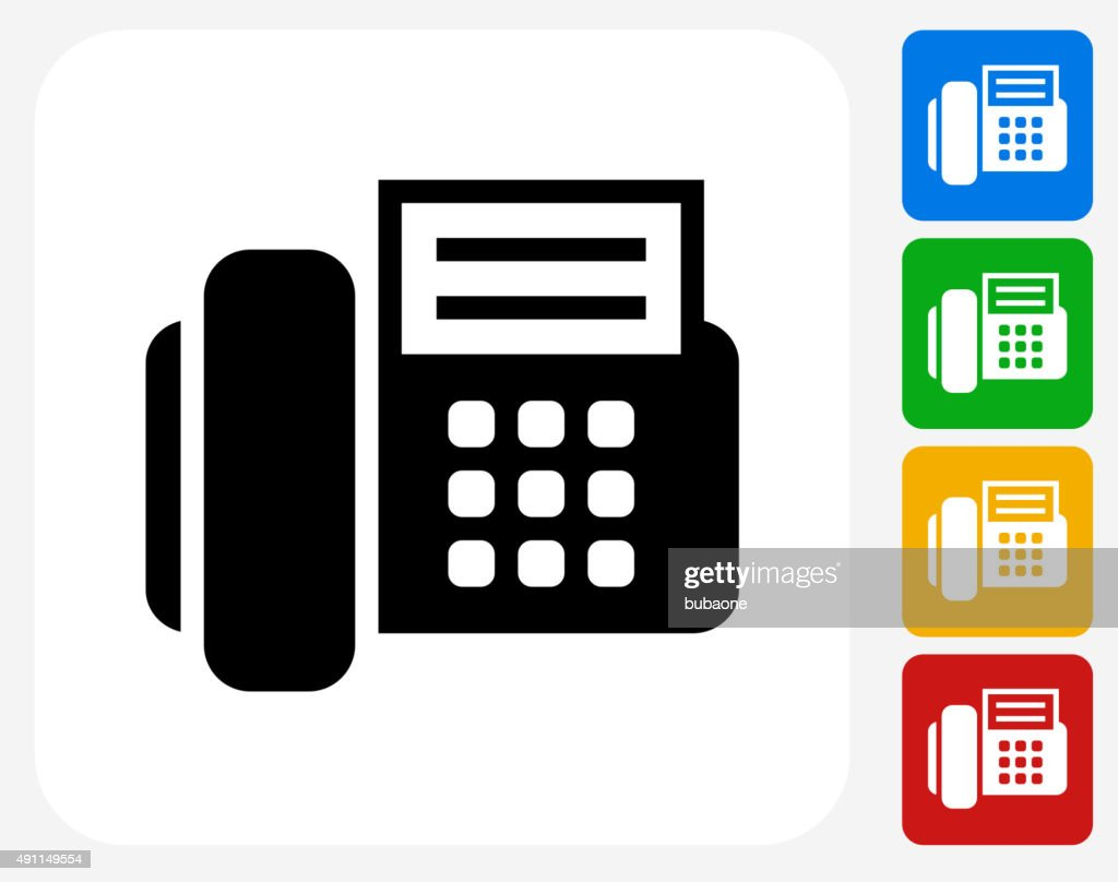 Office Phone Icon Flat Graphic Design