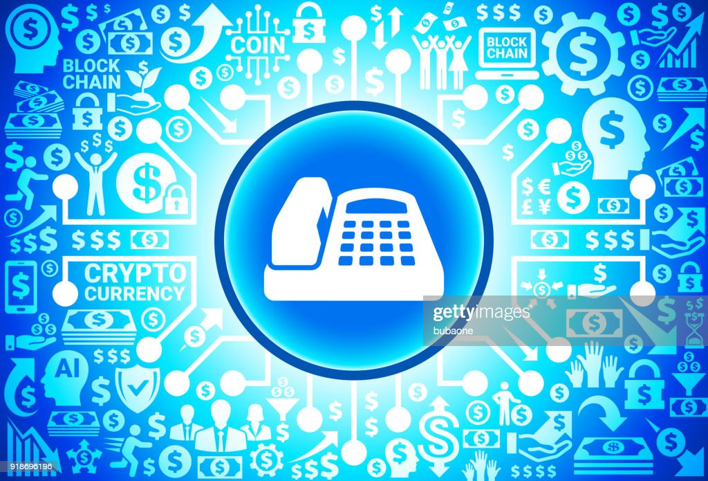 Office Phone Icon On Money And Cryptocurrency Background