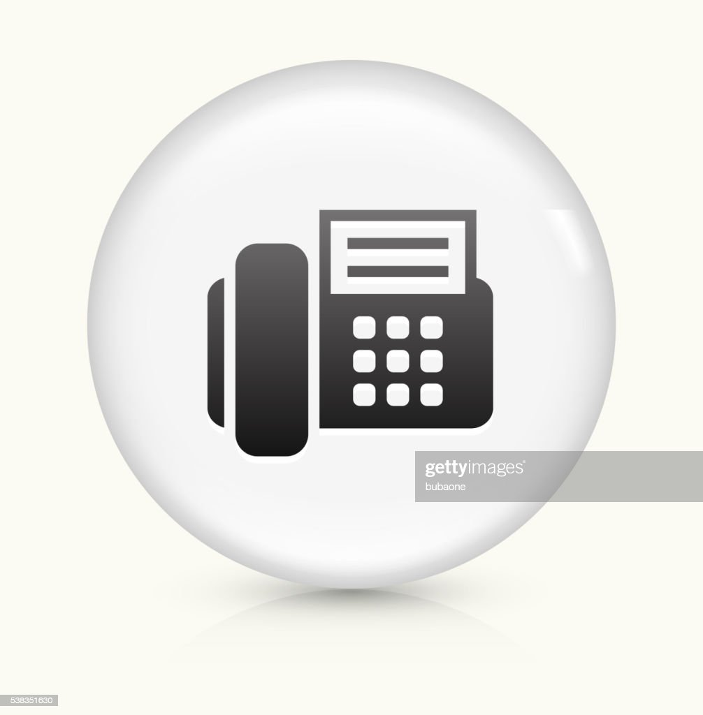 Office Phone icon on white round vector button