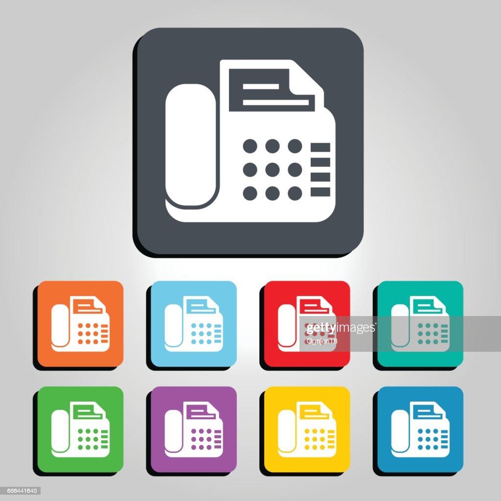Office Phone Vector Icon Illustration