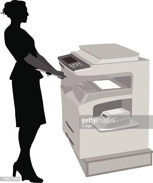 office photocopier - photocopier stock illustrations, clip art, cartoons, & icons