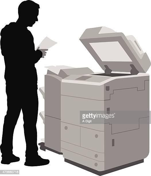 オフィスのコピー - コピーする点のイラスト素材/クリップアート素材/マンガ素材/アイコン素材
