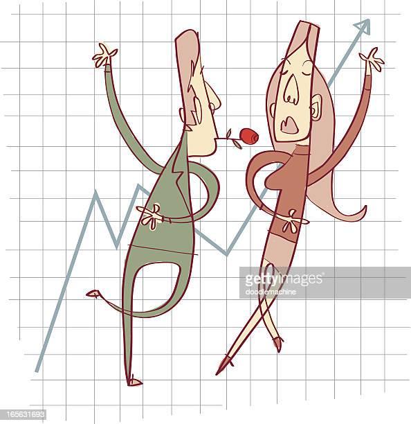 flirt mit kollegen - work romance stock-grafiken, -clipart, -cartoons und -symbole