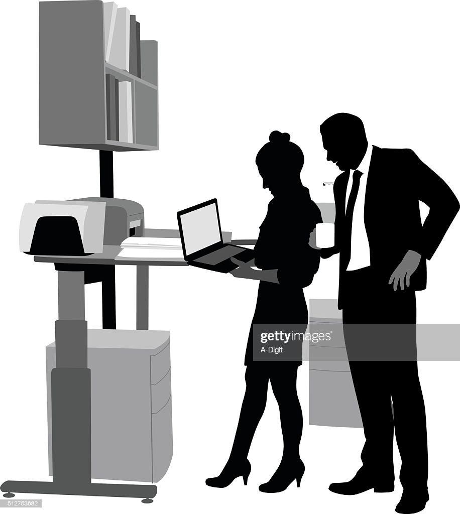 Office Second Opinion : stock illustration