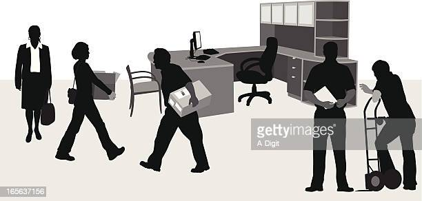 Office Setup Vector Silhouette